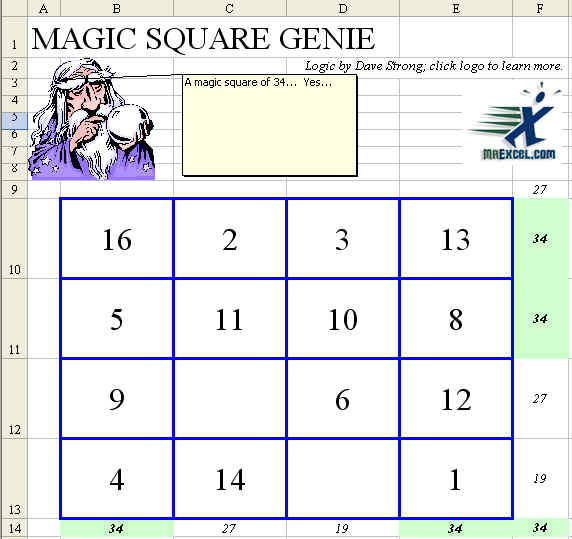 Create a Magic Square for any number in Excel – Math Magic Squares Worksheets